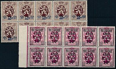[1801] Belgium 1931 good Set very fine MNH Stamps in Blocks of 10 Value $33