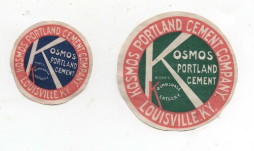 Two 1910 Advertising Stickers for Kosmo