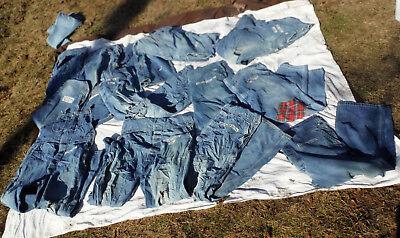 Pick One..Unisex Mens Blue Denim Carpenter Costume Scarecrow Distressed Overalls (Carpenter Costume)