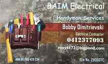 BAIM Electrical  and Handyman Services (Electrician) Jewells Lake Macquarie Area Preview