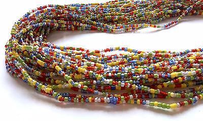 Yellow, Green, Blue & Red Handmade African Waist Bead