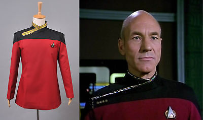Star Trek The Next Generation Kapitän Picard´s rote Uniform Cosplay - Star Trek Next Generation Kostüm Rot