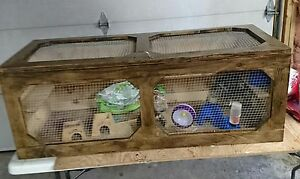 Wooden cage for hamsters or other small animals