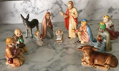 GOEBEL VINTAGE HEIRLOOM 11-PIECE NATIVITY SET-EACH MARKED AND NUMBERED ON BOTTOM
