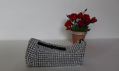 Bling Tape Dispenser Crystal Clear Hot New Rhinestone Silver Office Supplies