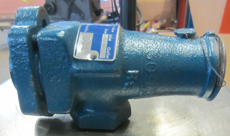 """Parker Safety Relief Valve Type H2 Inlet Size: 1/2"""" Outlet Size: 1"""""""