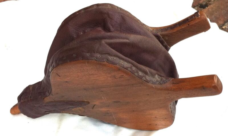ANTIQUE BELLOWS WOOD LEATHER FIREPLACE Vintage Wooden Primitive