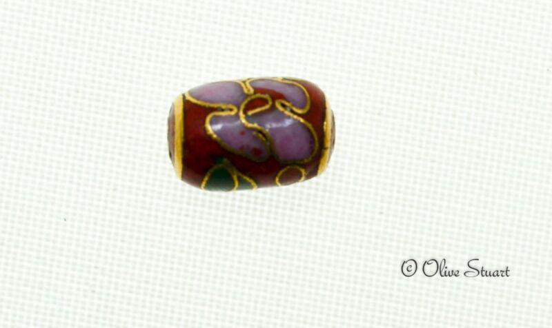 Oriental Cloisonne Beads Loose barrel 8mm x 11mm
