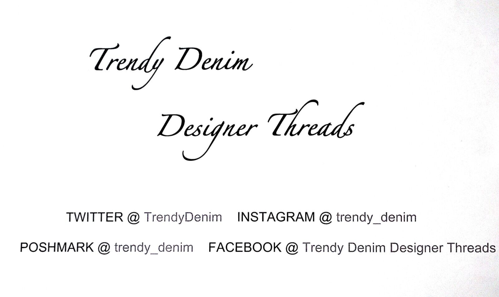 Trendy Denim Designer Threads