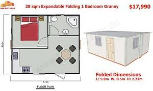 28sqm Expandable, Folding Granny Flat Cabin, 2 Hours to Set Up Mount Annan Camden Area Preview