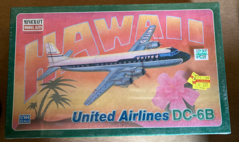 MINICRAFT 1/144 UNITED AIRLINES DOUGLAS DC-6B #14532  factory sealed