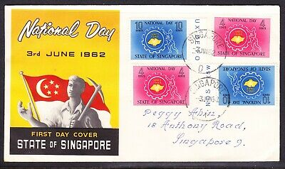 Singapore 1962 National Day First Day Cover Addressed Sing No 3