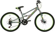 "Apollo Creed Junior Kids Mountain Bike Bicycle 24"" Steel Frame Full Suspension"