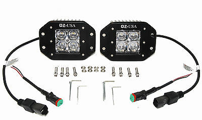 OZ Flush mount pod PHILLIPS led lights fog utv offroad 3x3 race truck van racing