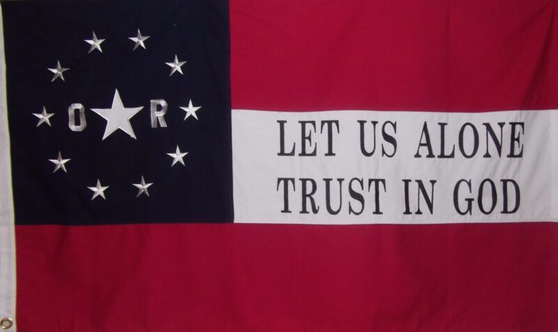 ORLEANS RIFLES FLAG - 6TH LOUISIANA VOLUNTEERS FROM NEW ORLEANS - TRUST IN GOD
