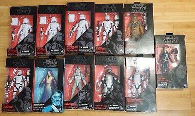 "Star Wars Black Series  Obi Wan Kenobi, Jaina, Trooper, Chewbacca 6"" 11pc Lot"