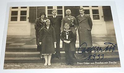 Oskar Prinz von Preu�en SKH Kaiser Wilhelm II. AUTOGRAMM K�ln 8.10.1933