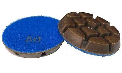 3 - 50 Grit - Resin Bonded Floor Polishing Pucks For Concrete Natural Stones