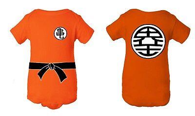 Dragon Ball Goku Inspired Baby Newborn Jumper/Creeper Crawler Halloween Costume - Creeper Costume
