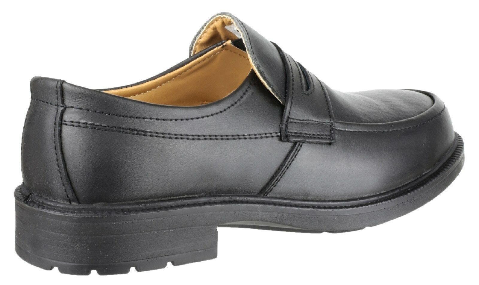 39d0d9aee1d Details about Amblers FS46 Safety Shoes Mens Smart Steel Toe Cap Industrial  Work Slip Ons