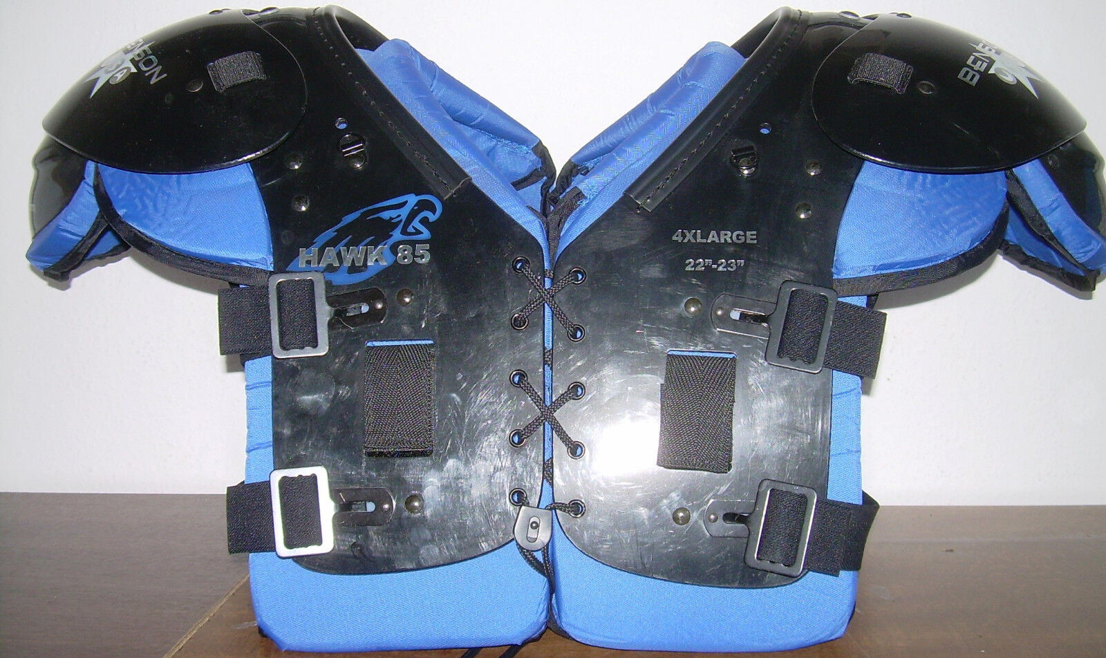American Football Shoulderpad Benson Hawk 85, Gr. XXXXL, OL, DL, LB, FB, Neu