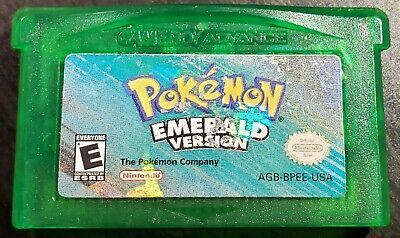 AUTHENTIC Pokemon Emerald Version (Nintendo Game Boy Advance GBA, 2005) TESTED
