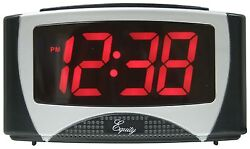 30029 Equity by La Crosse AC Powered 1.2 Red LED Display Digital Alarm Clock