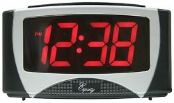 30029 Equity by La Crosse 1.2 Red LED Display Digital Alarm Clock - Refurbished