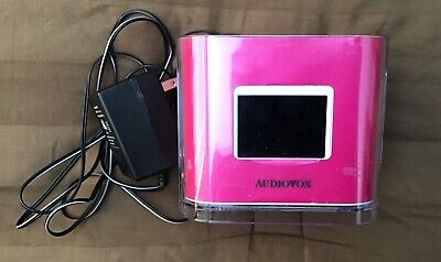 Audiovox Dual Alarm Clock AM/FM Radio Dock for iPod/iPhone CR8030iE5 Pink