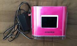 Audiovox Dual Alarm Clock AM/FM Radio Dock for iPod/iPhone CR8030iE5 Pink