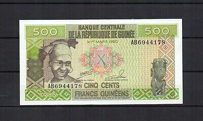 GUINEE République de guinée billet de 500 francs de 1985 PK N° 31 NEUF UNC