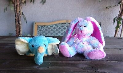Elephant Bunny Beanie Babies Lot Vintage Ty Bean Bag (Beanie Babies Bean Bag Plush)