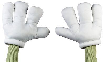 Cartoon Hände Klein Kinder Handschuhe Weiß Übergröße Riesig Groß Stil - Cartoon Hände Kostüm