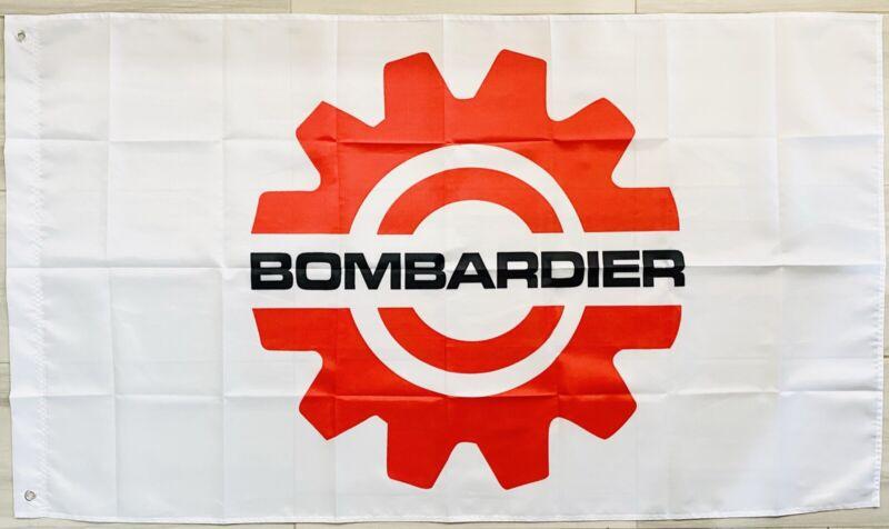 SKI-DOO BOMBARDIER BRP FLAG BANNER DRAPEAU SNOWMOBILE MAN CAVE GARAGE