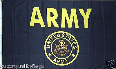 ARMY BLACK & GOLD U.S. MILITARY FLAG NEW 3X5 ft
