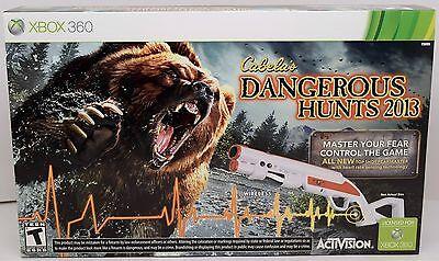 Xbox 360 Games - NEW XBox 360 Cabela's Dangerous Hunts 2013 Hunting GAME + GUN Bundle top shot
