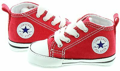 Converse Red White Baby Boy Girl Baby Crib Shoes New Born All Sizes