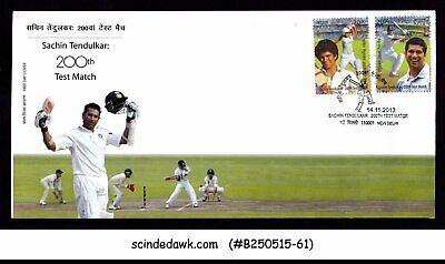 INDIA - 2013 SACHIN TENDULKAR : 200th TEST MATCH / CRICKET - 2V - FDC for sale  Shipping to India