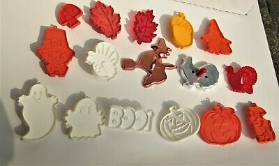 16 Vintage Halloween Thanksgiving Fall Cookie Cutters Tupperware Hallmark +