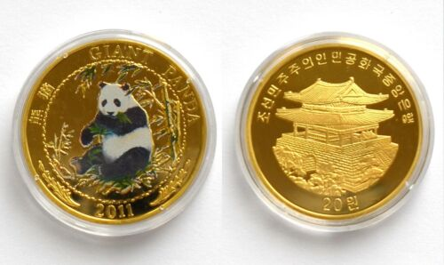 L3122, Korea Giant Panda Commemorative Coin 20 Won, 2011
