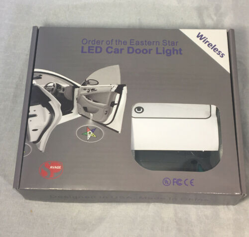 Order of the Eastern Star OES LED Car Door Light- Set of 2-New!