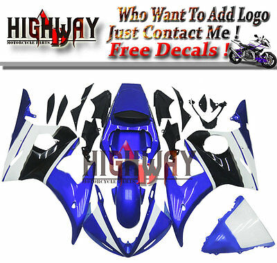 Cowling Kit Fairing Bodywork Kits work for Yamaha YZF-R6 YZF600 03 04 blue white for sale  Shipping to Canada