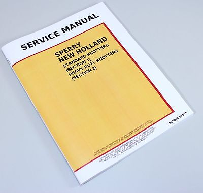 New Holland 273 276 277 275 Square Baler Knotter Service Repair Shop Manual