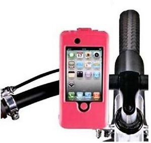 PINK-OR-WHITE-BIKE-BICYCLE-MOUNT-HOLDER-STAND-WATERPROOF-CASE-APPLE-iPHONE-4-4S