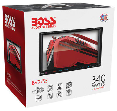 """New Boss BV9755 Double Din 7"""" Touchscreen DVD/CD/MP3 Receiver Low $"""