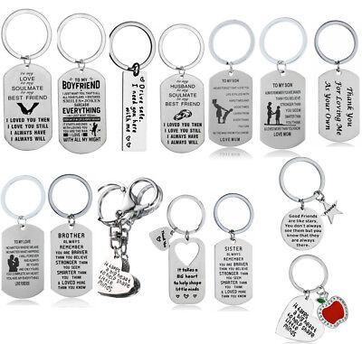Mom Keychain - Keyring Couples Boyfriend Keychain Dad Mom Fathers Jewellery Family Best Friends