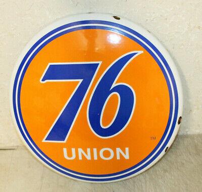 Union 76 Vintage Style Porcelain Signs Button Gas Pump Man Cave Station