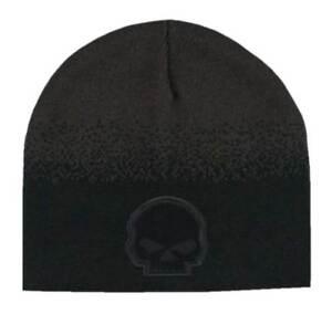 58091096353b41 Harley-Davidson Men's Willie G Skull Knit Beanie Hat, Black & Brown  KNCUS028239