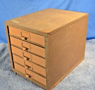 Vintage Kennedy Five Drawertoolbox Parts Cabinet Tool Box Machinist Look