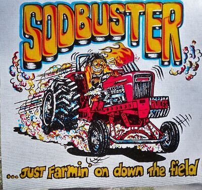 Nos Vintage Sodbuster Tractor Pulling Farming Iron On Transfer T Shirt